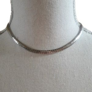 Vintage 14k white gold Plated choker necklace